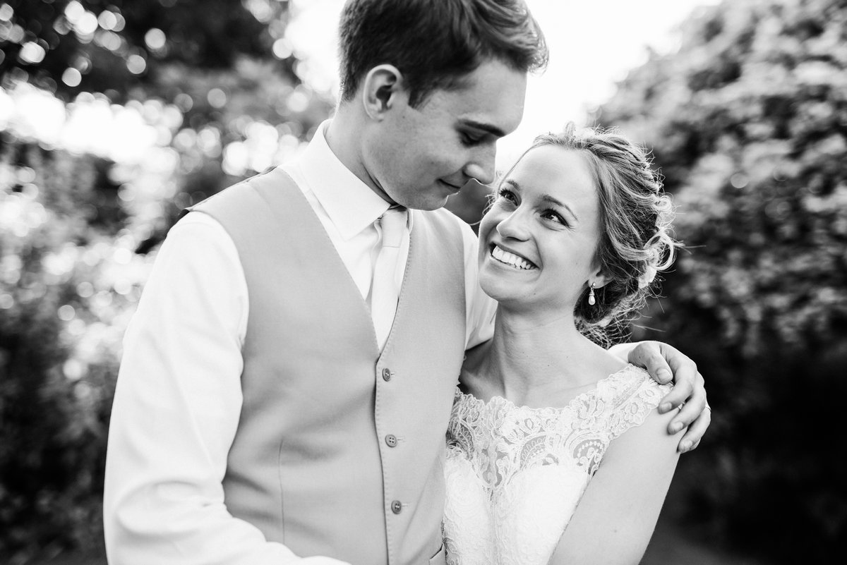 Bride and groom at Parley Manor