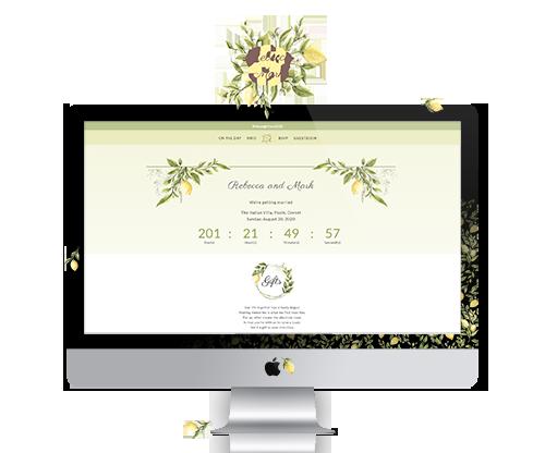 Wedding website - Rebecca & Mark