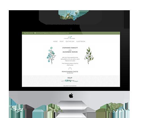Wedding website - Alex & Stephanie