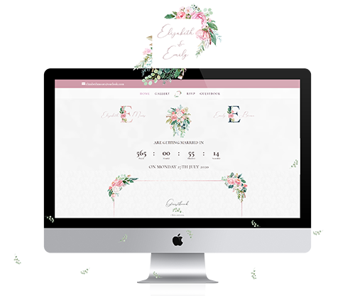 Wedding website - Elizabeth & Emily